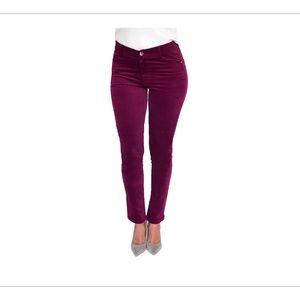Eileen West Wine Colored Velveteen Pants